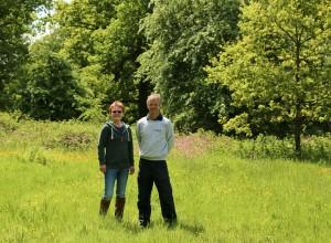 Sarah and Stephen at award-winning Alvecote Wood
