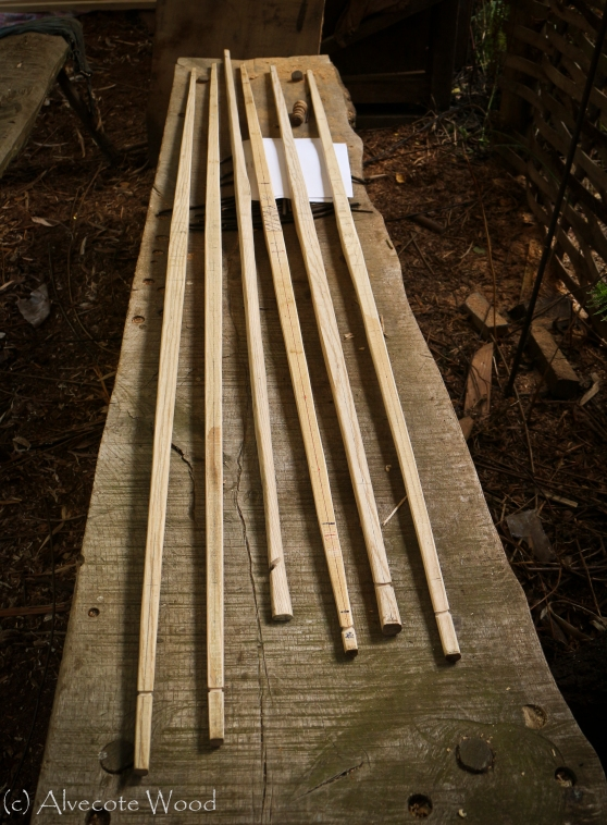 Longbows after two days work