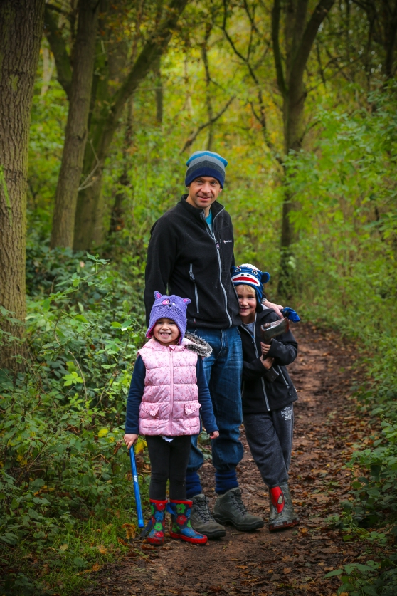 Family enjoying Hopwas Woods