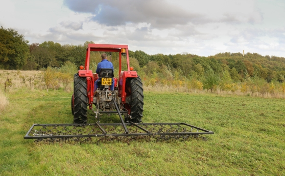Using the chain harrow