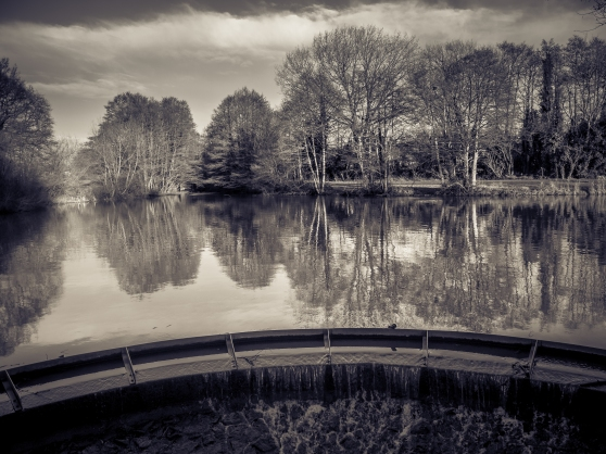 Reflections in Stonydelph Lakes.